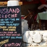 Husband crèche sign